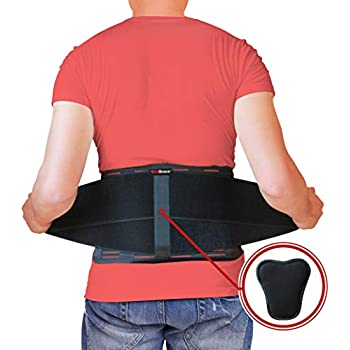 Back Support Belt by AidBrace - Fast Lower Back Pain Relief - Breathable Back Mesh with Adjustable Straps and Removable Lumbar Pad - Extra Large Size (2XL / 3XL)