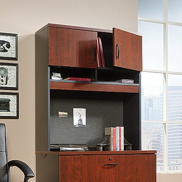 Sauder 419708 Via Lateral File Hutch, Classic Cherry Finish by Sauder (Image #1)