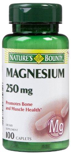 Nature Bounty onglets de magnésium 250 mg, 100 ct