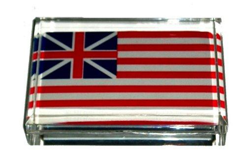 USA American Flag 1776 Acrylic Executive Desk Paperweight