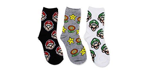 Nintendo Super Mario Bros.3 Pk Crew socks (Super Mario Bros Mushroom)