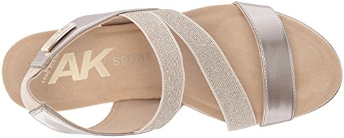 cheap in China Anne Klein Women's Peppina Wedge Sandal Light Gold Synthetic original online svFzDhbz
