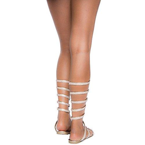 Bambus Kvinners Prakt-35m Sandal Sandal Rose Gull