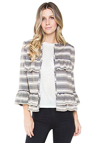 Ruffle Tweed Jacket - 3