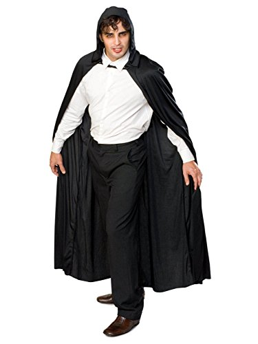 Rubie's Full Length Hooded Cape Role Play Costume, Black, One Size