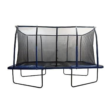 Upper Bounce Easy Assemble Spacious Rectangular Trampoline with Fiber Flex Enclosure Feature, 8 x 14'