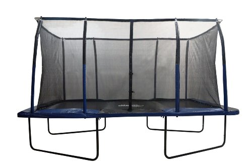 "Upper Bounce Easy Assemble ""Spacious"" Rectangular Trampoline with Fiber Flex Enclosure Feature, 8 x 14-Feet"