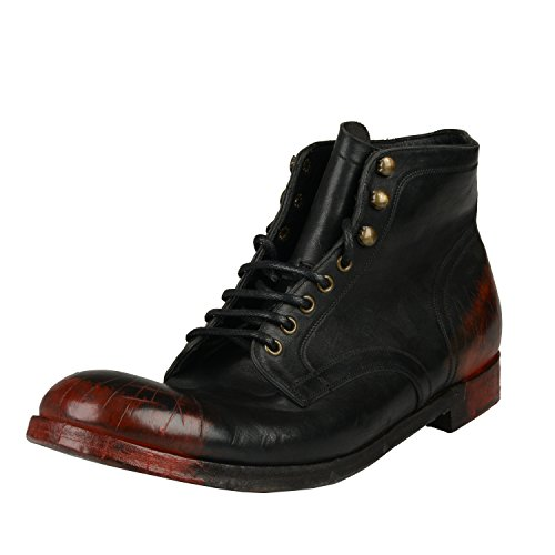 Dolce & Gabbana Painted Distressed Look Ankle Boots Shoes US 12 IT 11 EU 45 Dolce Gabbana Mens Boots