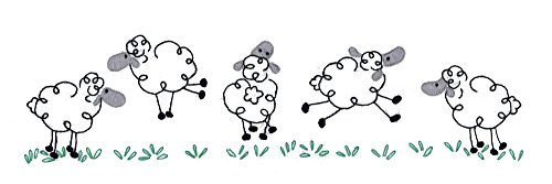 Embroidery Pillowcase Kits (Design Works Crafts T232142 Tobin Running Sheep 20