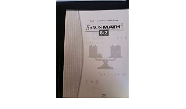Saxon Math Test Preparation and Practice 8/7 with Prealgebra
