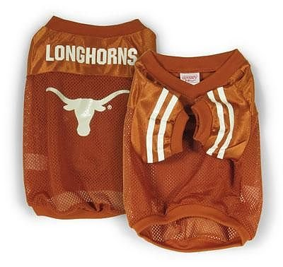 Sporty K9 Collegiate Texas Longhorns Football Dog Jersey, X-Small  - New Design