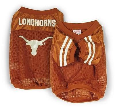 Sporty K9 Collegiate Texas Longhorns Football Dog Jersey, X-Small  - New Design (Soccer Longhorns Texas)