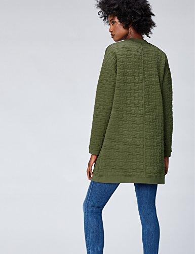 Find Y Bomber khaki Larga Verde Acolchada Para Mujer Chaqueta q6rtw6