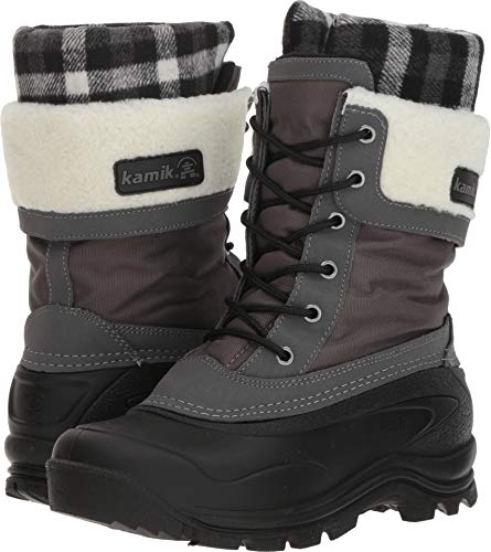 Kamik Women's Sugarloaf Snow Boot, Charcoal, 11 Medium US