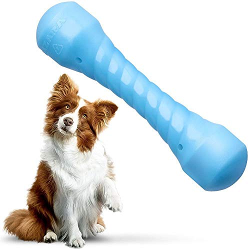 Aizara Dog Chew Toys for Aggressive Chewers, Indestructible Dog Toys Tough Durable Rubber Bone Toys for Medium/Large Dogs Perfect for Training & Keeping Pets Fit