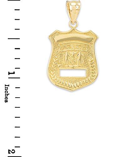 10 ct 471/1000 Or Police-Insigne- Pendentif