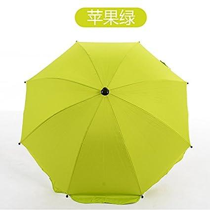 fjsajuf Los niños bicicleta triciclo bebe carrito sombrilla anti - UV,Soporte de paraguas verde