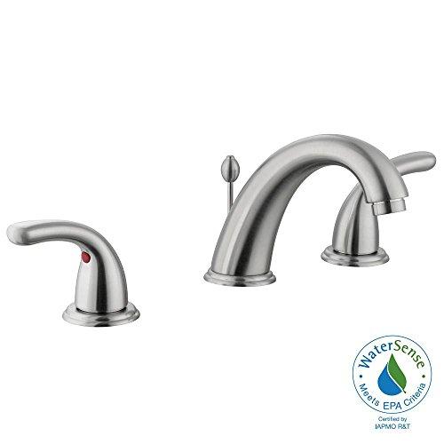 Glacier Bay Builders 8 in. Widespread 2-Handle High-Arc Bathroom Faucet in Brushed Nickel