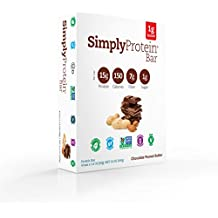 SimplyProtein Bar, Chocolate Peanut Butter, Pack of 4, Gluten Free, Non GMO, Vegan