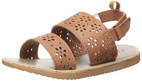 OshKosh B'Gosh Girls' Rita Open Toe Sandal, Brown, 6 M US Toddler