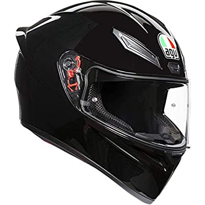 Image of Helmets AGV Unisex-Adult Full Face K-1 Motorcycle Helmet Black Small