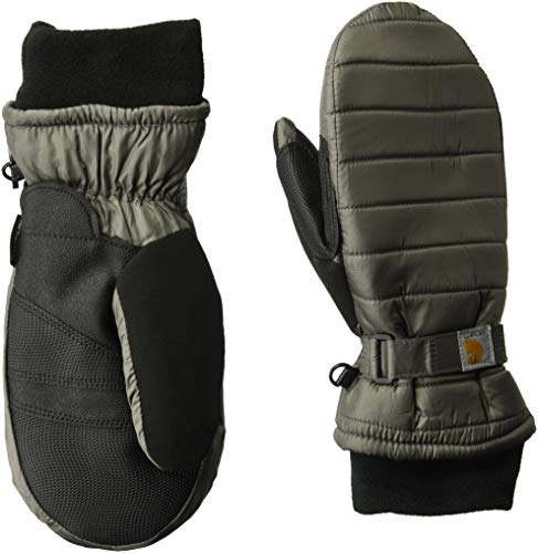 Carhartt Women's Quilts Insulated Mitt with Waterproofing Wicking Insert, charcoal, Small