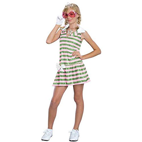Girl's HS Musical Sharpay Costume (Size: Medium (Girls Sharpay's Pink Dress Costumes)