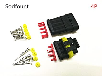 1 2 3 4 5 6 Pin Way Seal Car Waterproof Electrical Wire Superseal Connector Kit