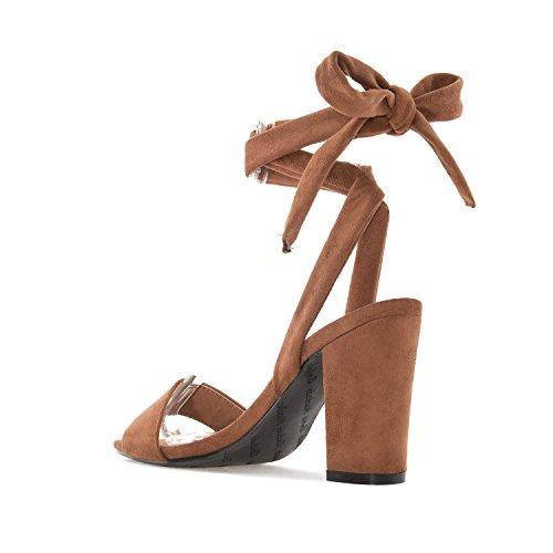 ANDRES MACHADO - Damen Sandaletten - Braun Schuhe in Übergrößen