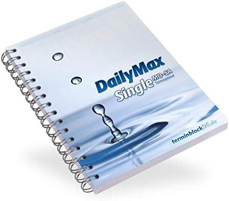 DailyMax Single Terminplaner Praxisplaner DIN A5, 7-20 Uhr, 15-Minuten-Takt Montag-Samstag, Wochenplaner für Praxis, Studio, Salon, Werkstatt