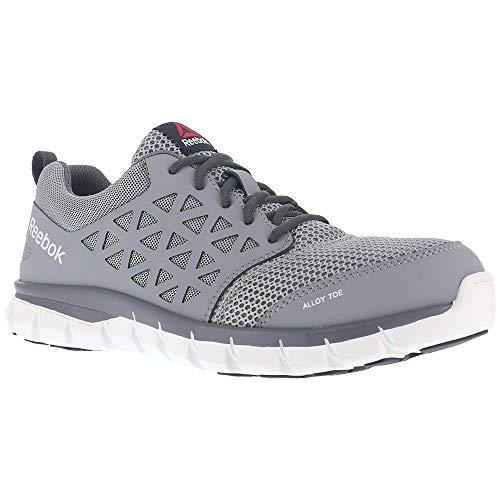- Reebok Mens Grey Mesh Work Shoes Alloy Toe Oxfords 10.5 M