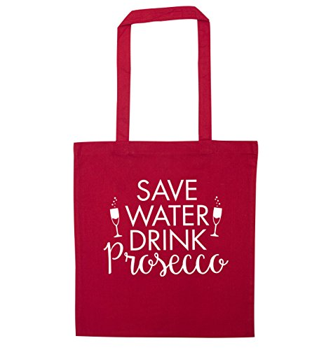 tote Red prosecco drink Save bag Save water water wqXnI6Z0