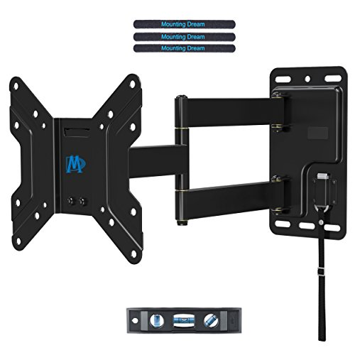 Mounting Dream MD2210 Lockable RV TV Wall Mount for Most 17-39 Inch LED, LCD, OLED and Flat Screen TVs on Motor Home Camper Truck Trailer with Swivel/Tilt/Extension Arms up to VESA 200x200mm and 44LBS