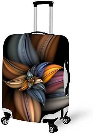 Abstract Colorful Painting Washable Travel Luggage Cover Elastic Suitcase Trolley Protector Cover for 22-24 inch Luggage