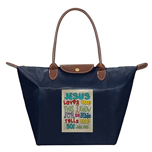 Perfect Gift For Mother¡¯s Day Bible Jesus Loves Me This I Know For The Bible Tells Me So - John 3-16 Dumplings Type Bags