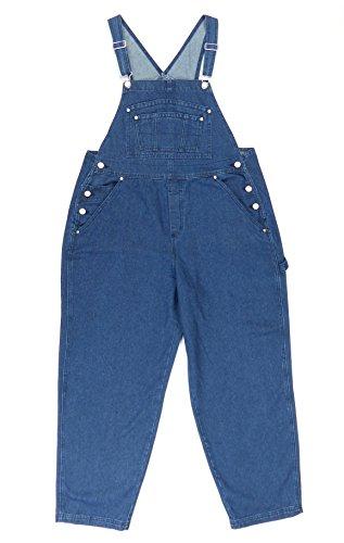 BoundOveralls Plus Size Women's Denim Bib Overalls Dark Wash Size 26 ()