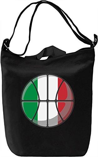 Italy Basketball Borsa Giornaliera Canvas Canvas Day Bag| 100% Premium Cotton Canvas| DTG Printing|