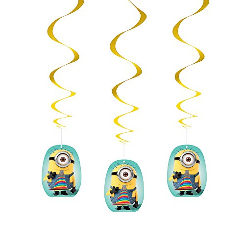 26 Hanging Despicable Decorations 3ct