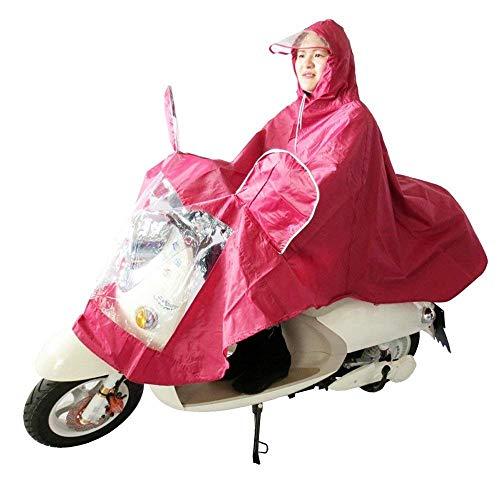 Coche Con Lluvia Impermeable Motocicleta Capucha Señora Casual Wein Rot Eléctrico Mujer Moda 4UwXqxw7