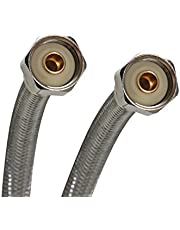 Fluidmaster B4F16 Faucet Connector, Braided Stainless Steel-1/2-Inch I.P. Female Straight Thread X 1/2-Inch I.P. Female Straight Thread, 16-Inch Length
