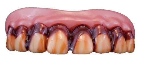 Zombie Teeth Adult, One-Size, Red -