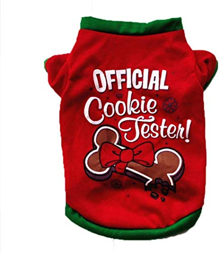 MOM Pet Apparel Dress up Christmas Pet Cute Fashion Clothing Cotton T-Shirt Puppy Costume Pet Vest Harnesses,s