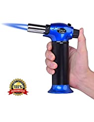 Lennov Micro Butane Gas Torch Lighter, Welding Soldering Brazing Refillable Tool, Professional Grade Culinary Blow torch for Camping Welding BBQ Outdoor (GF-879,NO BUTANE GAS)