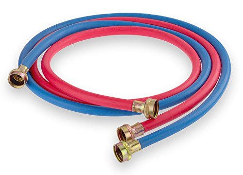 Washing Machine Hose - 1 Red and 1 Blue Rubber - Made in USA - UPC Approved, 10FT (Cleaning Washing Machine compare prices)