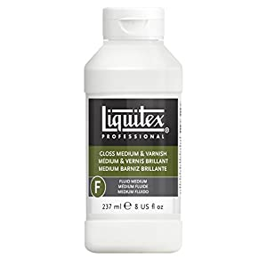 Liquitex Gloss Acrylic Fluid Medium Varnish, 8-oz