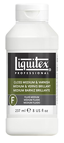Acrylic Paint Varnish - Liquitex Gloss Acrylic Fluid Medium and Varnish, 8-oz