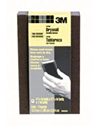 3M Large Area Drywall Sanding Sponge, Fine/Medium, 4.875-Inch...