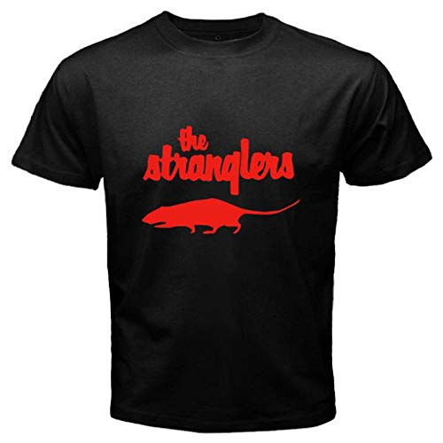 The Stranglers Rat T-shirt, Red and Black for Men, S to 3XL