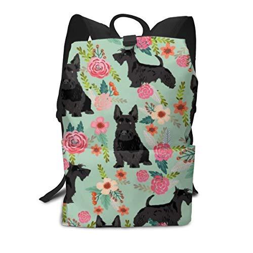 Travel Backpack Laptop Backpack Large Diaper Bag - Black Scottie Dog Backpack School Backpack For Women & Men