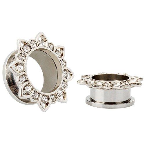 KUBOOZ Fashion Earrings Piercings Tunnel Plugs Body Jewelry Design Ear Stretchers Gauges Size 11/16